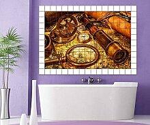 Weltkarte Fliesenaufkleber 10 15 20 25 cm