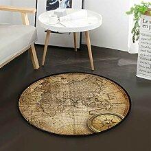 Weltkarte Kompass Vintage stilvolle runde Fläche