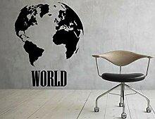 Weltkarte Wandaufkleber Planet Erde Aufkleber