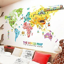 Weltkarte Wandaufkleber Schlafzimmer Kinderzimmer Hintergrund Dekoration Aufkleber , A