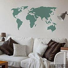 Weltkarte Wohndeko Schablone Wandfarbe, Stoffe &