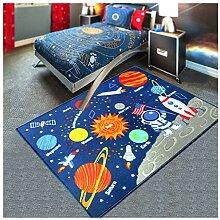 Weltraum-Kinder-Spielplatz-Teppich,