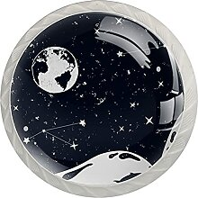 Weltraumuniversum Wal Küchenknopf Klarglasschrank