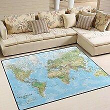 Weltumweltkarte Teppich 4 'x 6',