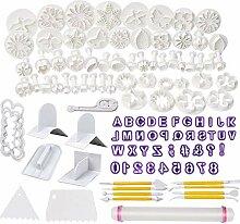 WELWEL Fondant-Formen, 114 Ausstechformen und