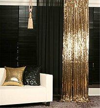 """Wemosi TRLYC Fotografie-Hintergrund aus Pailletten-Stoff, für Hochzeiten, in verschiedenen Größen, Goldfarben, Sonstige, gold, 36""""*72"""" sequin backdrop"""