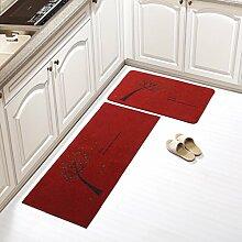 Wen Küchenteppich, lange Wasser rutschigen kann