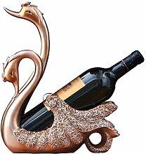 WEN-Wine Rack Kreative Schwan Weinregal