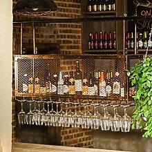WEN-Wine Rack Metall Eisen Grid Decke Weinregale