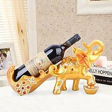 WEN-Wine Rack Weinregal europäischen Stil Gold