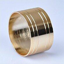 WENBIAOXUE Gold Serviettenringe Serviette Ringe
