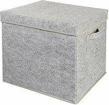 Wenco Filz-Aufbewahrungsbox mit Deckel, bis 5 kg,