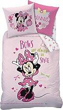 Wende Bettwäsche Set Minnie Mouse 135x200cm,