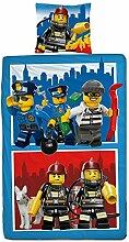 Wende Linon Kinder Bettwäsche Lego City 135 x