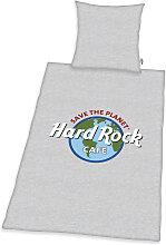 Wendebettwäsche Hard Rock 1x 135x200 cm, 80x80