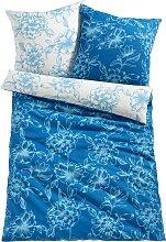 Wendebettwäsche Martha, blau (1x 80/80cm, 1x