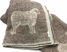 Wendedecke Wolldecke Plaid Kuscheldecke Edel Schaf