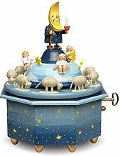 Wendt & Kühn Spieldose Mondvater mit Engeln