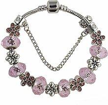 WENEWU Armbänder,Floral Glas Perlen Legierung Set