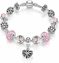 WENEWU Armbänder,Glasierte Perlen Kristallperlen
