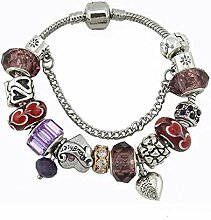 WENEWU Armbänder,Liebe Anhänger Handarbeit Glas