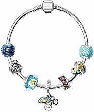 WENEWU Armbänder,Regenbogen Baiyun Liebe Glas