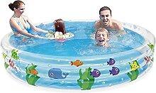 WENFAN Aufblasbarer Pool, Kinder Planschbecken, 3