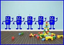 Wenig Roboter x1 Kinder Wall Sticker Aufkleber