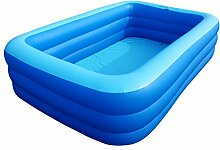 WENJUN Aufblasbarer Pool Quadratische Badewanne