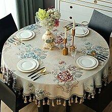 WENJUN Große Runde Tischdecke, Weihnachten Runde