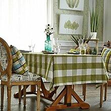WENJUN Rechteckige Baumwolle Plaid Tischdecke