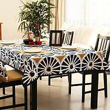 WENJUN Tischdecken Baumwoll-Leinen-Tischdecke Für