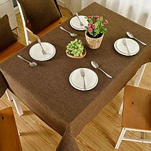 WENJUN Tischdecken, Baumwolle Leinen Tischdecke