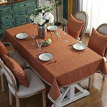 WENJUN Tischdecken, Faux Linen Tischdecke