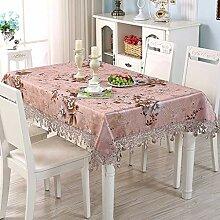 WENJUN Tischdecken Große Polycotton Grey