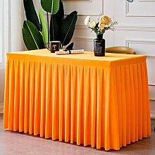 WENJUN Tischdecken Plissierter Tischrock,