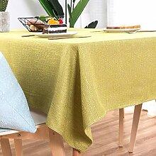 WENJUN Tischdecken, Tischdecke Aus Baumwollleinen