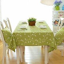 WENJUN Tischdecken, Tischdecke Mit Grünem Blatt,