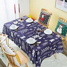 WENJUN Tischdecken, Weihnachtsbaum Red Christmas