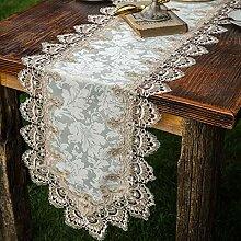 WENJUN Tischläufer, Vintage-Spitze, für