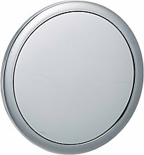 WENKO 16879100 Kosmetik-Wandspiegel Pistoia - 5-fache Vergrößerung, mit Saugnapfhalterung, Spiegelfläche ø 12.5cm, Kunststoff, 3.5 cm, Chrom