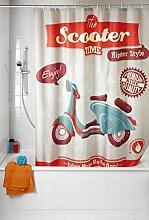WENKO 21586100 Anti-Schimmel Duschvorhang Vintage