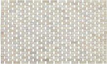 WENKO 22106100 Badematte Bamboo Weiß - Unterseite rutschhemmend, Bambus