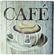 Wenko 4369300100 Static-Loc Wandhaken Uno Café,