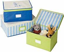 WENKO 4386024100 Aufbewahrungsboxen Pirate - 3er