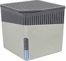 Wenko 50221100 Design Raumentfeuchter Cube 1000 g Luftentfeuchter, Fassungsvermögen 1.6 L, Ø 16.5 x 15.7 cm, dunkelgrau