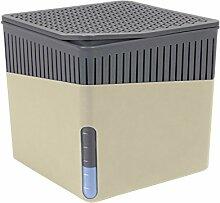 Wenko 50222100 Design Raumentfeuchter Cube 1000 g Luftentfeuchter, Fassungsvermögen 1.6 L, Ø 16.5 x 15.7 cm, beige