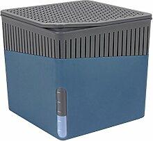 Wenko 50223100 Design Raumentfeuchter Cube 1000 g Luftentfeuchter, Fassungsvermögen 1.6 L, Ø 16.5 x 15.7 cm, blau