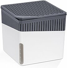 Wenko 50230100 Design Raumentfeuchter Cube 500 g Luftentfeuchter, Fassungsvermögen 0.8 L, 13 x 13 x 13 cm, weiß