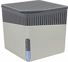 Wenko 50231100 Design Raumentfeuchter Cube 500 g Luftentfeuchter, Fassungsvermögen 0.8 L, 13 x 13 x 13 cm, dunkelgrau